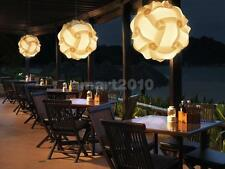 DIY White Ball Lampshade IQ Jigsaw Puzzle Light Hanging Lighting Party Decor