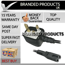 New UK 2 Pin Mains / Power Cord Cable Lead for Singer Sewing Embroidery Machine