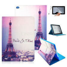 Paris Eiffel Tower Flip Leather Stand Case Cover for Apple iPad Samsung Tablets