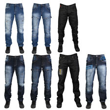 R3 NEW MENS RAWCRAFT STRAIGHT LEG & LOOSE FIT DENIM JEANS ALL WAIST & LEG SIZES