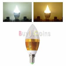 Low heat E14 220V 3*3W Warm Cool White LED Dimmable Bulb Candle Spotlight BA