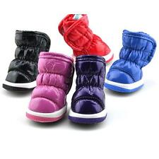 Pet Puppy Small Dog Shoes Ruffle Soft PU Leather Winter Warm Booties Boots