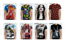 KAYDEN K New Sublimation Print T-Shirt Men's Short Sleeve Tee S M L XL