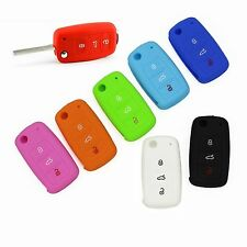 Silicone Key Cover 3B Keyless Entry Remote Fob Shell For VW Jetta Golf Passat