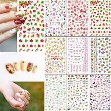 DIY Nail Art Decora Acrylic Water Transfer Manicure Tips Decal Sticker 12 Styles