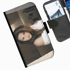 Demi Lovato Leather wallet personalised phone case for Sony Xperia M2 E1 M J