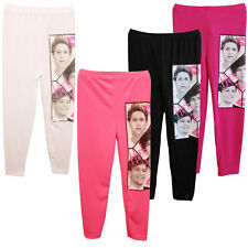 Girls Kids One Direction 1D STRETCH LEGGINGS PANTS  Age 7-13 Years