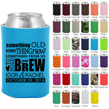 Personalized custom can koozies wedding favor Coolies quick turnaround (1016)