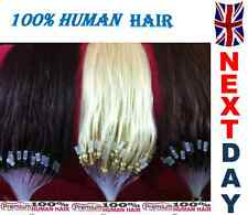 "20"" Loop Micro Ring 100% Remy Human Hair Extensions,1 Gram/s, Grade AAA 1G"