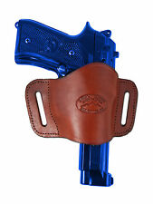 New Barsony Burgundy Leather Gun Quick Slide Holster Ruger Star Full Size 9mm 40