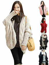 Women Casual Batwing Cardigans Knitwear Sweaters Pullover Jumper Coat Jacket Top