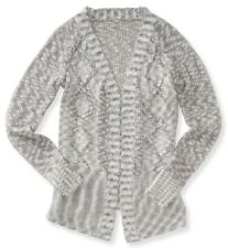NEW Aeropostale Womens Relaxed Classic Flowy Cable Knit Cardigan Sweater Sz XL