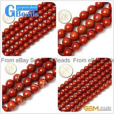 "Natural Red Jasper Round Gemstone Spacer Beads Strands 15"" Jewelry Making 2-16mm"