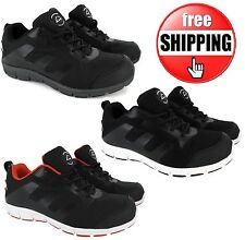 MENS GROUNDWORK ULTRA LIGHTWEIGHT STEEL TOE CAP SAFETY TRAINER SHOES WORK BOOTS