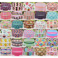 "2 5 10 50 Yds 7/8"" 22mm Grosgrain Cartoon Printed Pattern Ribbon Craft 49-84"