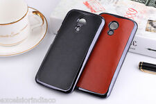 Premium Classic Elegant PU Leather Back cover case for Moto G2 2nd Generation