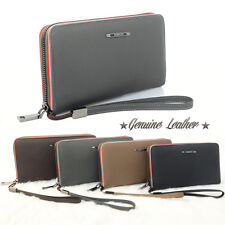 New ✮ Genuine Leather ✮ Men Zip Around Business Wallet Mature Purse Clutch