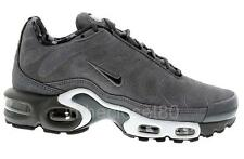 Nike Air Max Plus Premium Suede Leather Tuned 1 Tn Mens Trainers Dark Grey Black
