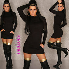 New Sexy Womens Jumper Sweater Dress Size 8-10 Turtleneck Hot Winter Clothing