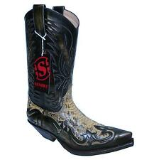 Sendra Boots Cowboyboots Style No. 3241 Antik with Pythonleather