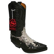 Sendra Boots Cowboyboots Style No. 3241 Nature with Pythonleather