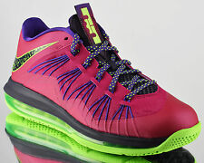Nike Air Max Lebron X 10 Low Raspberry mens basketball shoes NEW red plum