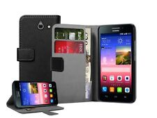 WALLET Leather Flip Case Cover Pouch For Huawei Ascend Y550 (+2 FILMS)