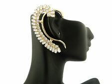 (SWAGGERS) NEW CELEBRITY STYLE ICED OUT EAR CUFF FASHION SINGLE PIECE EARRINGS