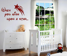 When you wish upon a star.Wall Art Vinyl Graphic Sticker Wallpaper Decal Bedroom