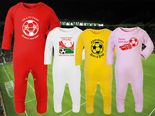 ABERDEEN Football Baby Romper Sleep Suit Personalised Gift-Any team/colour DONS