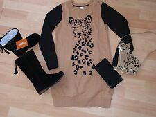 NWT GIRLS GYMBOREE 5 BROWN SWEATER DRESS, TIGHTS RIGHT MEOW
