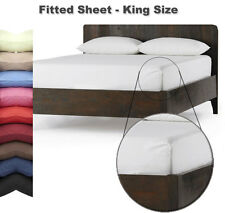 FITTED SHEET - KING Size - In 26 Colours - Autumn Nights