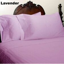 EXTRA DEEP POCKET SHEET SET EGYPTIAN COTTON 500TC STRIPED LAVENDER 1PC/3PC/4PC