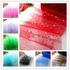 "5/25/100yd 6"" tulle spool fabric tutu sewing sequin trim DIY Wedding Decoration"
