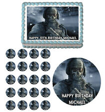 Ghost Zombie Edible Birthday Cake Cupcake Toppers Party Decorations