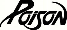 poison decal window or bumper sticker rock roll  band