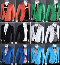 2015 New Stylish Men Top Designed Slim One Button Blazer Coat Jackets Suits