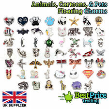 ANIMALS CARTOON CHARACTERS CHARMS Living Memory Floating Charm Costume Jewellery