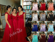 New Chiffon Evening Bridesmaid Dresses Formal Party Ball Prom Gown Dress 6-18
