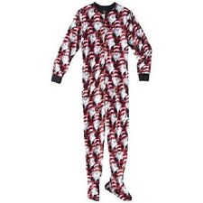 CAT IN THE HAT NEW DR SUESS FOOTED FOOTIE PAJAMAS ADULT SIZE XL CHRISTMAS GIFT