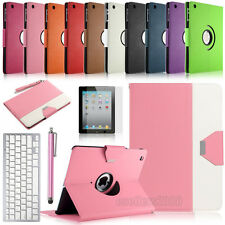 For New Apple iPad 4 3 2 Stand Leather Case Smart Cover With Bluetooth Keyboard