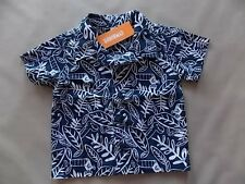 NWT Boys Gymboree Dino Day Camp blue parrot short sleeve shirt ~ 12-18 months 2T