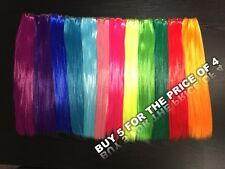 "1 PIECE SYNTHETIC CLIP IN HAIR STREAK 22"" LONG - 12 COLOURS TO CHOOSE FROM"