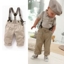 2X boys striped suit t-shirt pants baby sets toddler clothes for 6-24M S29