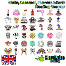 BEST QUALITY Floating Charm For Living Memory Locket GIRLY SEASONAL FLOWERS LUCK