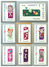 Personalised Girls Handmade Birthday Card 1st 2nd 5th 10th 12th etc Many Designs