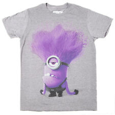 Despicable Me Evil Purple Minion Adult T-shirt - Grey