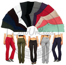 Yoga Womens Foldover Cotton Stretch Gym Casual Comfy Lounge Pants S M L 1X 2X 3X