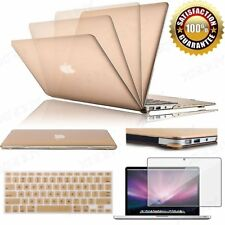 "Champagne Gold Rubberized Case+Keyboard Cover For MacBook Air 11""/13"" Pro/Retina"