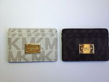 Michael Kors MK Signature PVC Card Case New with tags